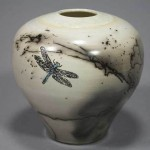 Horsehair Vase with Dragonfly